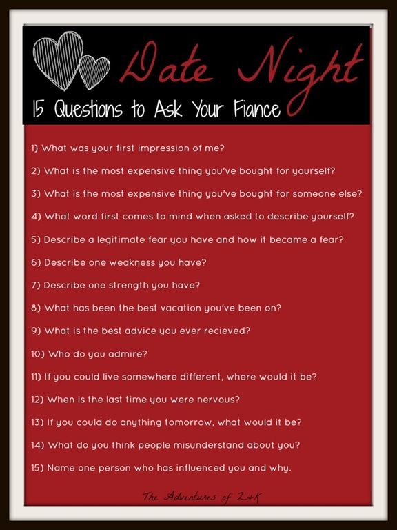 Questions to ask a girl when your dating